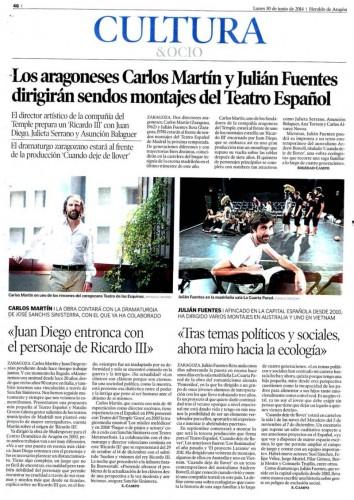 Heraldo de Aragón, 30 de Junio 2014