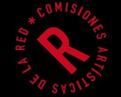 logo comisiones artisticas negro