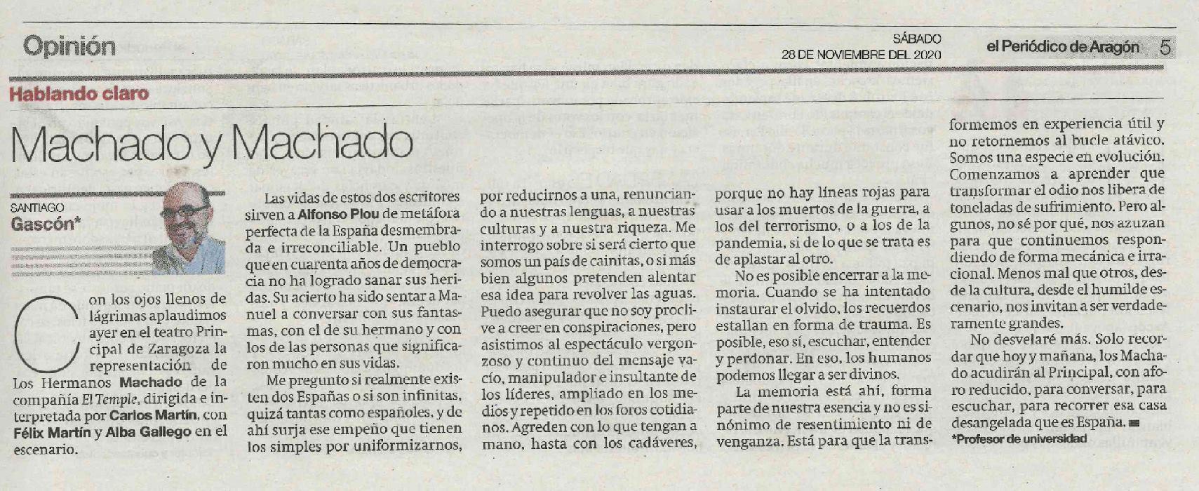 Articulo-El-Periodico-Aragon-Santiago-Gascon-Hhermanos-Machado